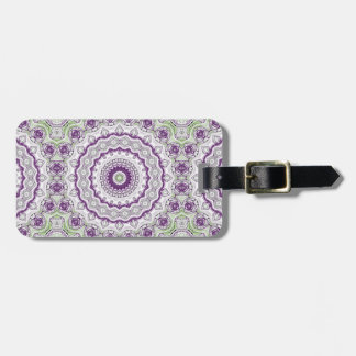 Mandala Medallion in Purple and Green Bag Tag