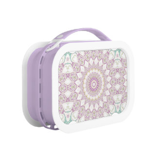 Mandala Medallion in Purple, Blue, Green & Yellow Lunch Box