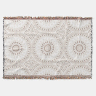 Mandala Medallion in Soft Beige and White