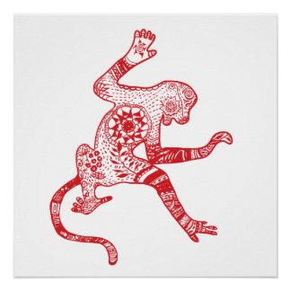 Mandala Monkey Poster Paper Print