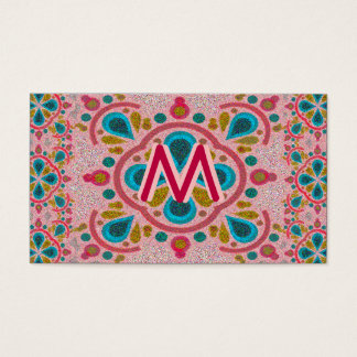 Mandala Monogram Business Card