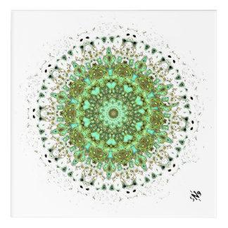 Mandala monsters acrylic print