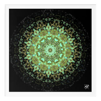 Mandala monsters acrylic wall art