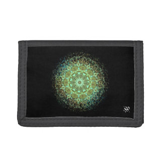 Mandala monsters tri-fold wallet