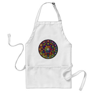 Mandala multicolor amor y protección - M2 Delantales