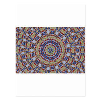 Mandala multicolored plastic components postcard