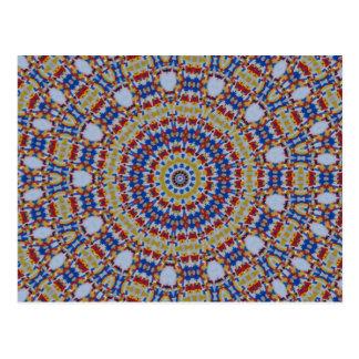 Mandala multicolored plastic components post card