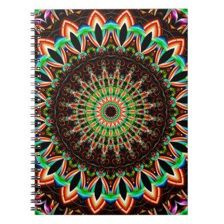 Mandala multicolored spiral notebook