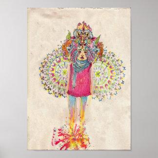 Mandala Mushroom Poster