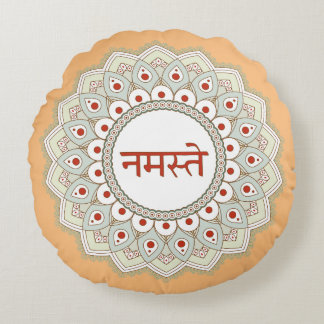 Mandala Namaste Yoga Woman Pillow