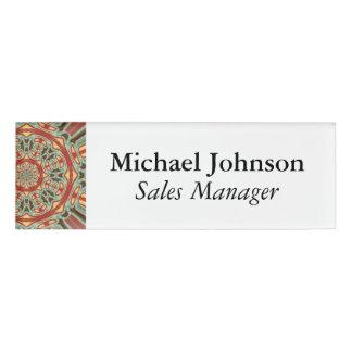 Mandala Name Tag