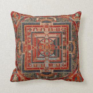 Mandala of Manjushri Throw Pillow
