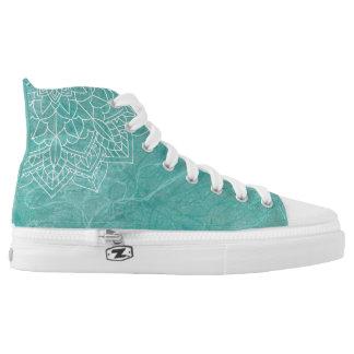 Mandala on Abstract Monoprint 1702908 Shoes