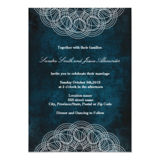 Mandala on Blue | Wedding Invitation