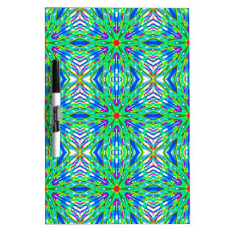 Mandala On White With Aqua Pink And Blue - Tiled Dry-Erase Boards