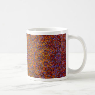 mandala orange coffee mug