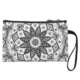 Mandala Oriental Art Pattern Design white clutch