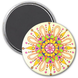 Mandala Original Drawing Refrigerator Magnets