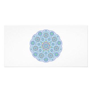 Mandala ornament customized photo card