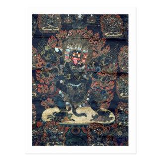 Mandala (painted parchment) postcard