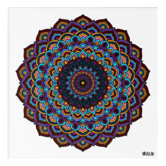 Mandala Pattern Acrylic Wall Art