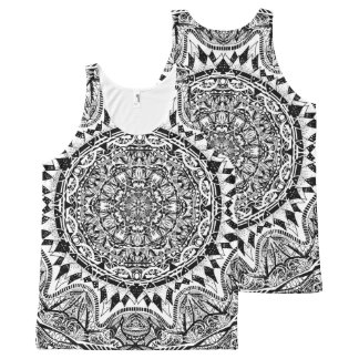 Mandala pattern All-Over print singlet