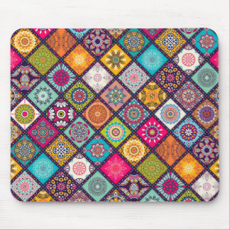Mandala pattern colourful Moroccan Mouse Pad
