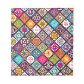Mandala pattern colourful Moroccan Notepad