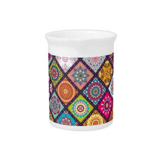 Mandala pattern colourful Moroccan Pitcher