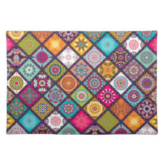 Mandala pattern colourful Moroccan Placemat