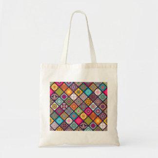 Mandala pattern colourful Moroccan Tote Bag