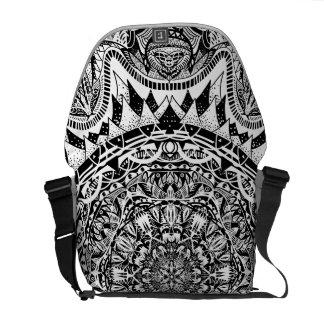 Mandala pattern commuter bag