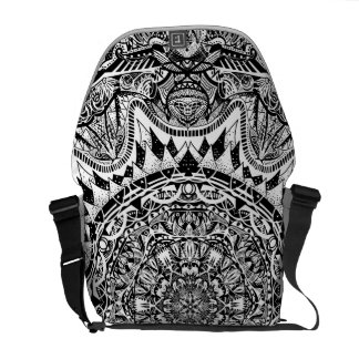 Mandala pattern courier bags