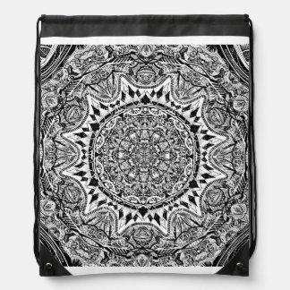 Mandala pattern drawstring bag