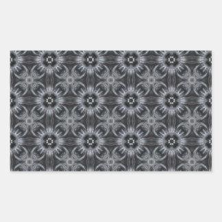 Mandala Pattern in Black and White Rectangular Sticker