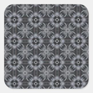 Mandala Pattern in Black and White Square Sticker