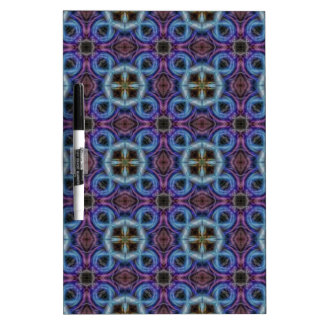 Mandala Pattern in Blue and Violet Dry-Erase Whiteboards