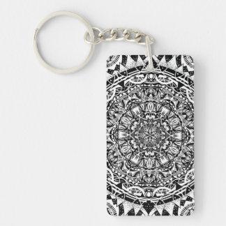 Mandala pattern key ring