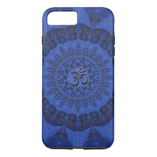 Mandala pattern navy yoga namaste pattern floral iPhone 8 plus/7 plus case