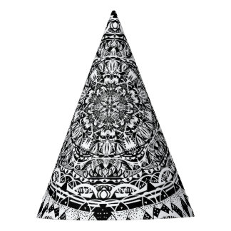Mandala pattern party hat