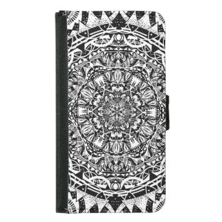 Mandala pattern samsung galaxy s5 wallet case