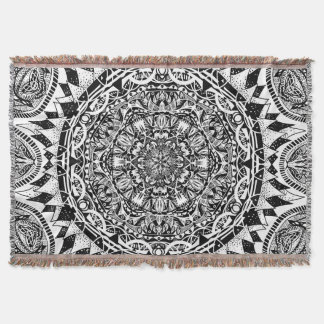 Mandala pattern throw blanket