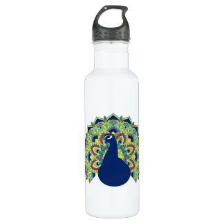 Mandala Peacock 710 Ml Water Bottle