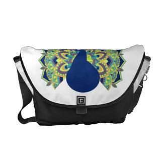 Mandala Peacock Courier Bag