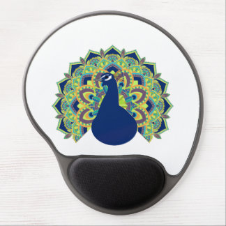 Mandala Peacock Gel Mouse Pad