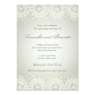 Mandala & Pearls | Wedding Rehearsal Dinner 13 Cm X 18 Cm Invitation Card