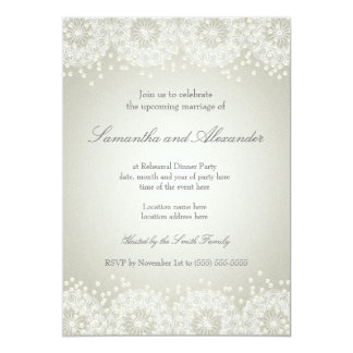 Mandala & Pearls | Wedding Rehearsal Dinner Card