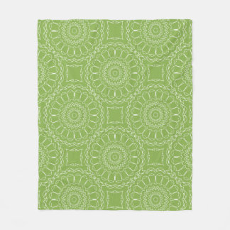 Mandala Print 2017 Greenery Cuddle Blanket