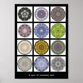 """Mandala print - """"A year of mandalas 2009"""""""