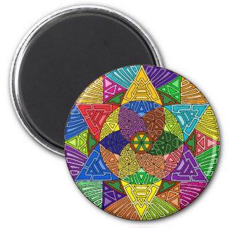 Mandala Pyramids Round Magnet